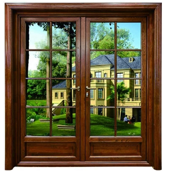 铝木复合平开门