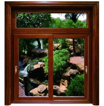 铝木复合推拉窗